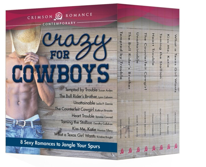 Eight Crimson Romance Novels Featuring Cowboys!